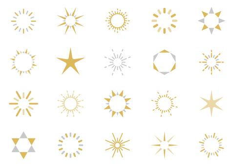 光閃閃的裝飾圖標 03C