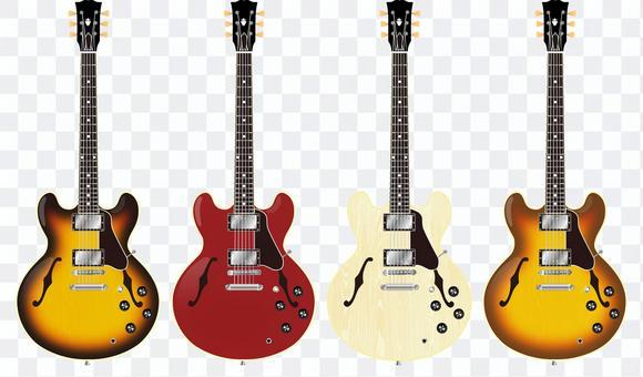 セミアコギター1