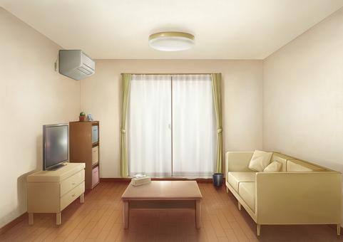 Living room background illustration