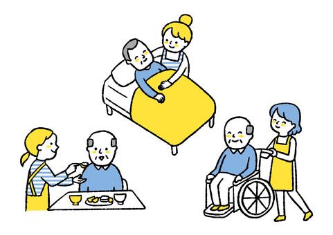 參與長期護理的人