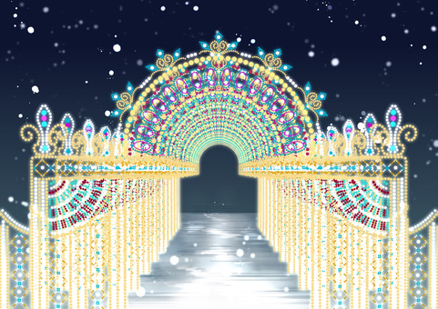Illumination arch continuous & with background