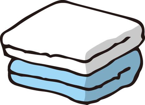 Towel (white / blue)