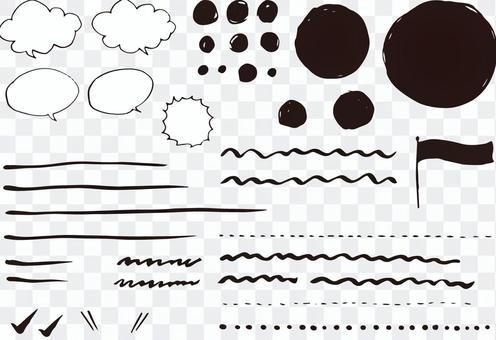 Handwritten material for handwriting
