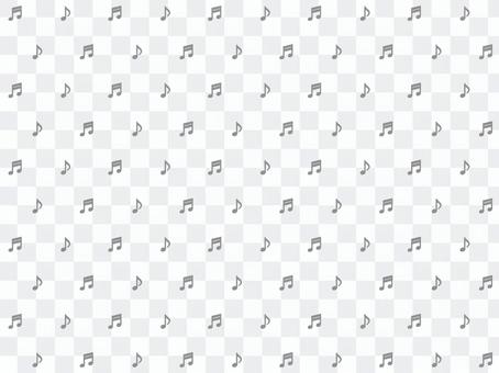 Musical note dot background: monochrome