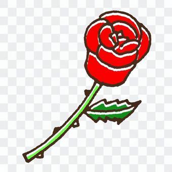 かわいいバラのイラスト