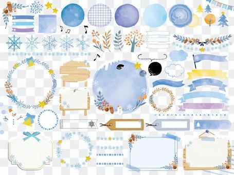 藍色框架材質(無png字符)