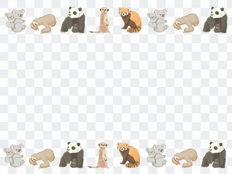動物可愛的畫框