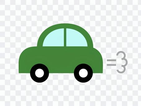 車 自動車 横 緑