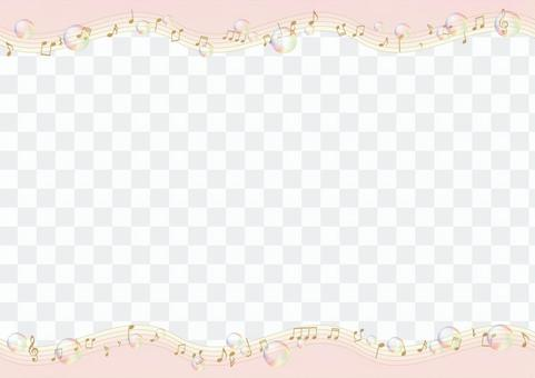 Musical note and soap bubble frame