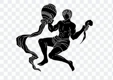Aquarius silhouette