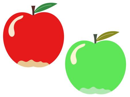 蘋果和青蘋果的簡單插圖集