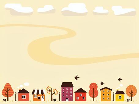 Autumn skyline illustration