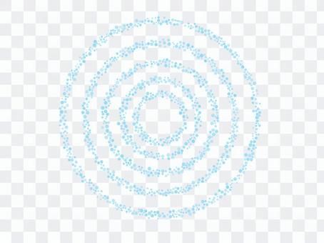 點漣漪水環點畫法水環圈