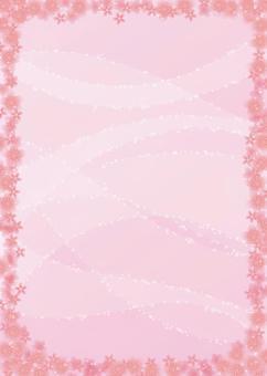 櫻花,背景,A4垂直,用腳