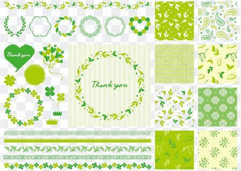 綠色材料圖案色板