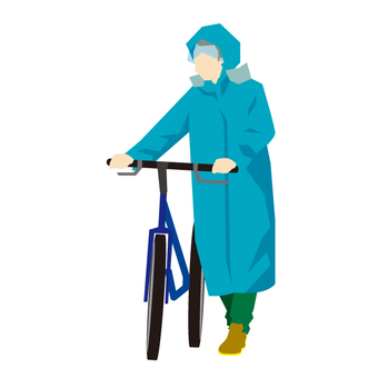 Bicycle on a rainy day