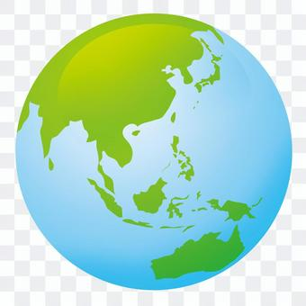 Blue Earth and green earth