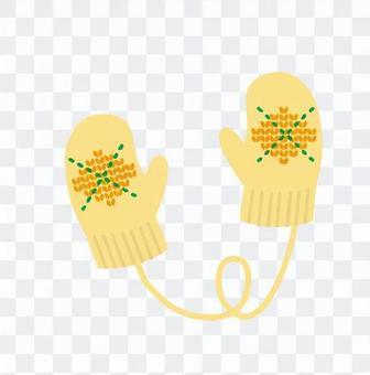 手袋(黃)