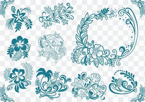 Tropical image material set