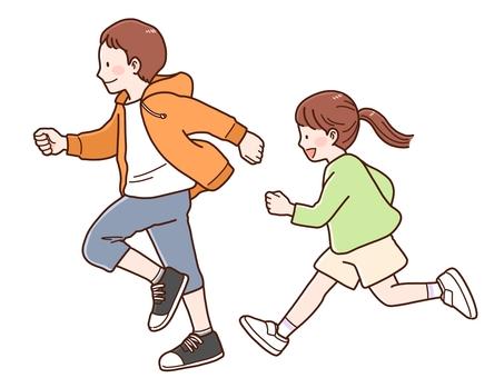 奔跑的孩子