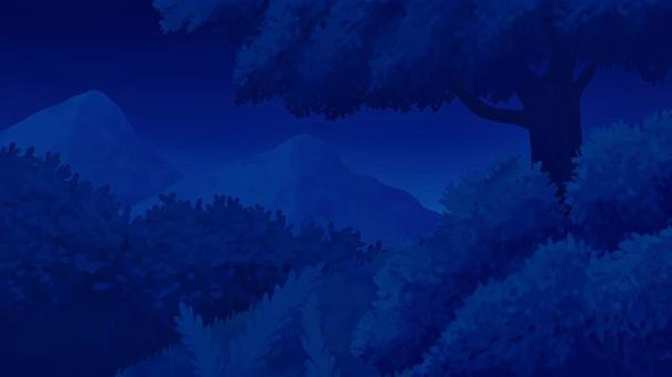 大自然在晚上與山2 16:9