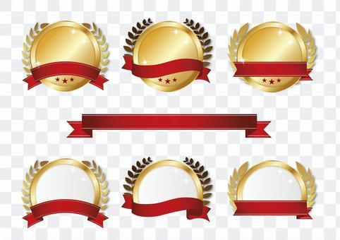 獎牌插圖素材03