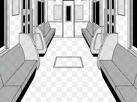 電車内部 背景