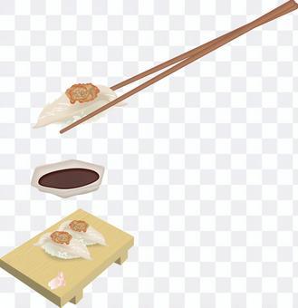 Sushi Sushi restaurant Kawahagi Peeling liver Geta