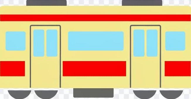 火車側身紅色