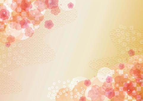 日本圖案素材013梅花背景