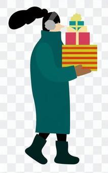 攜帶禮物的女人