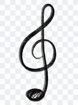 Treble clef musical note music clef