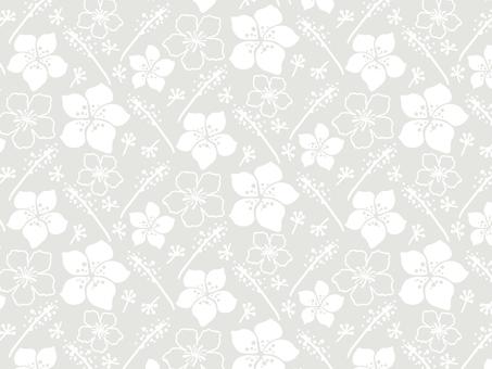 Modern floral pattern 11 white / gray background