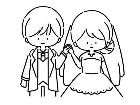 婚禮(線描:01)