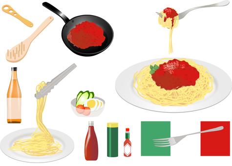 意大利面肉醬套餐