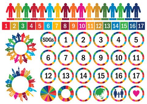 SDGs Sustainable Development Goals Mark Set