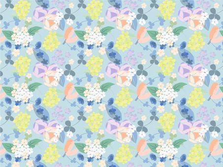 부드러운 색상의 꽃 무늬 패턴