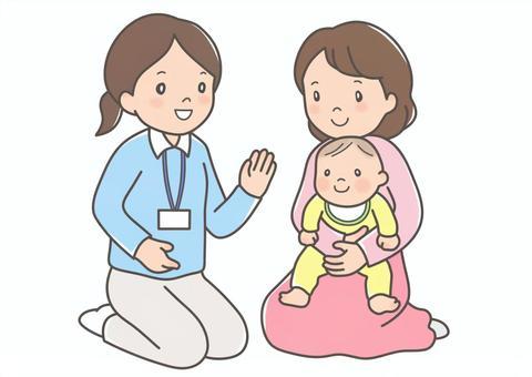 公共衛生護士和母親
