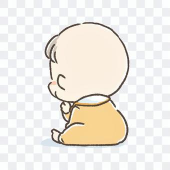 嬰兒的背影
