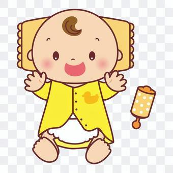 開心寶貝和撥浪鼓圖