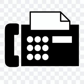 FAX phone black and white icon