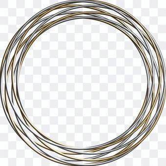 金銀金屬戒指框