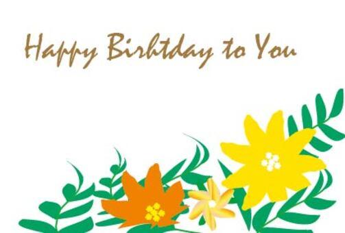Tropical flower birthday birthday card