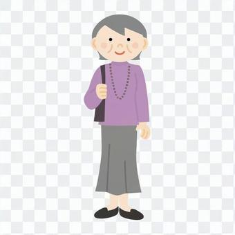 Woman who goes out (grandmother)