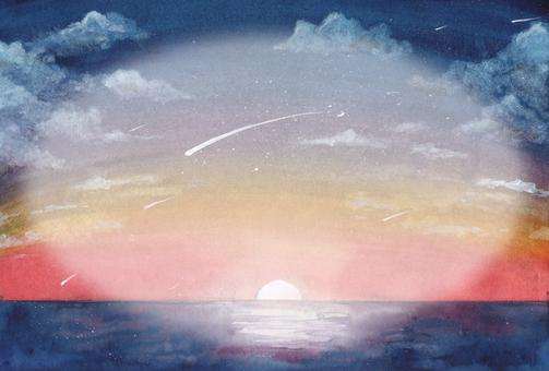 日出的流星雨(橢圓空間)