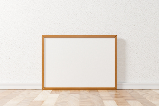 Wooden A4 picture frame mockup 3DCG