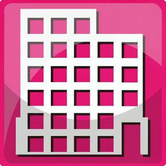 Apartment pink icon