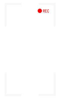 Vertical screen REC frame (white)