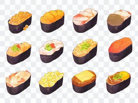 寿司のイラスト(軍艦)