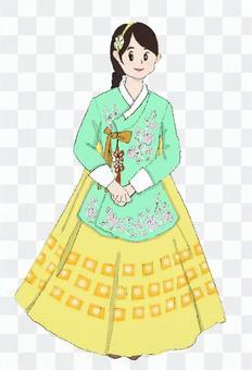 韓服中的女性(chima jeogori)